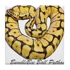 Bumblebee Ball Python Tile Coaster
