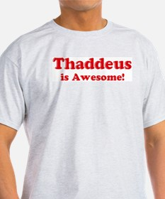 Thaddeus is Awesome Ash Grey T-Shirt
