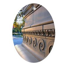 Sacramento Public Library Det Oval Ornament