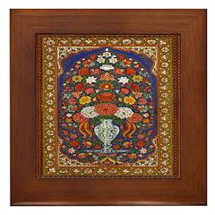 Floral Tapestry Framed Tile