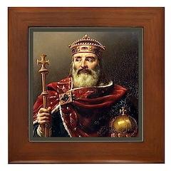 Charlemagne Framed Tile