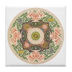 Chinese Floral Ceramic Tile