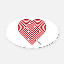 I Love Angelica Oval Car Magnet