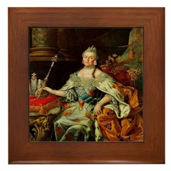 Russia's Catherine the Great Framed Tile