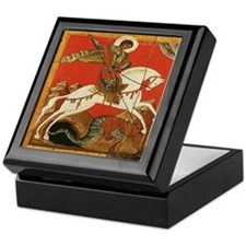 St. George Slaying the Dragon Keepsake Box