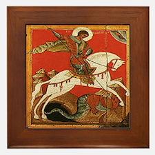 St. George Slaying the Dragon Framed Tile