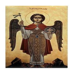 Russian Archangel Michael Tile
