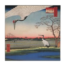 Japanese Cranes Tile
