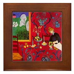 Harmony In Red Framed Tile