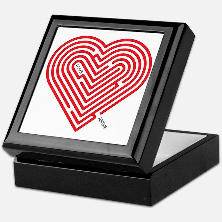 I Love Angie Keepsake Box