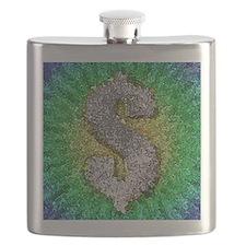 Dollar Sign Pop Art Flask