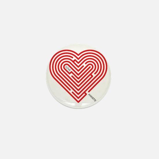 I Love Annette Mini Button