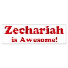 Zechariah is Awesome Bumper Bumper Sticker