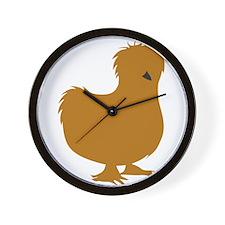 Silkie Chicken (buff) Wall Clock