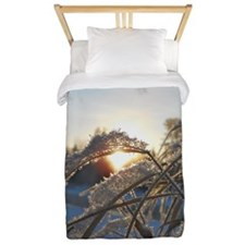 Snowflakes on Grass Twin Duvet
