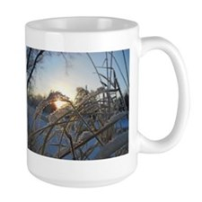 Snowflakes on Grass Mug