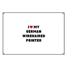 i luv my german wirehaired pointer Banner