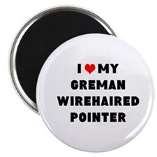 i luv my german wirehaired pointer Magnet