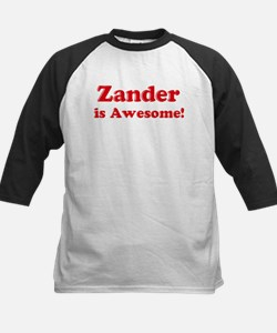 Zander is Awesome Kids Baseball Jersey