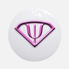 Supermanpink.jpg Ornament (round)
