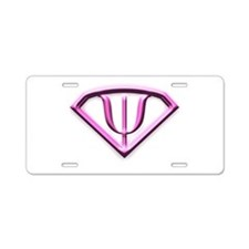 Supermanpink.jpg Aluminum License Plate