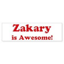 Zakary is Awesome Bumper Bumper Sticker
