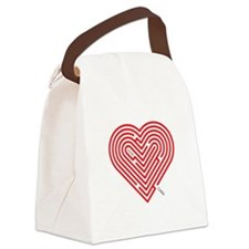 I Love Cara Canvas Lunch Bag