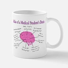 Atlas of a med student brain PINK Mugs