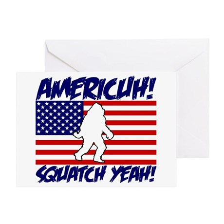 Americuh! Squatch Yeah! Greeting Card