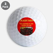 trash men Golf Ball