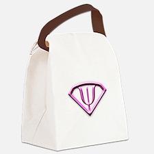 supermanpink.jpg Canvas Lunch Bag