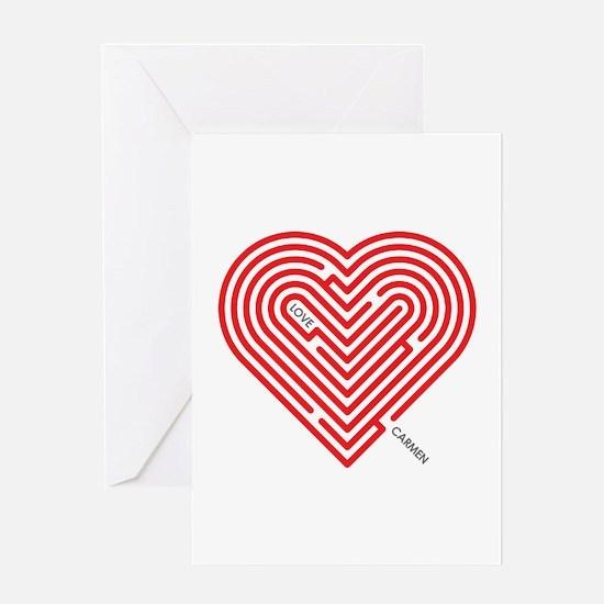 I Love Carmen Greeting Card