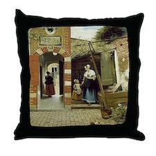 Courtyard in Delft Throw Pillow