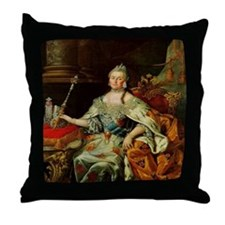 Russia's Catherine the Great Throw Pillow