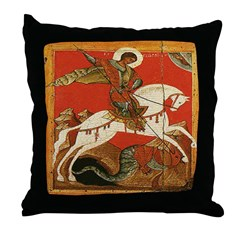 St. George Slaying the Dragon Throw Pillow
