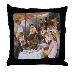 Renoir's Boat Party Throw Pillow