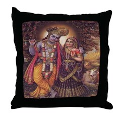 Krishna 2 Throw Pillow