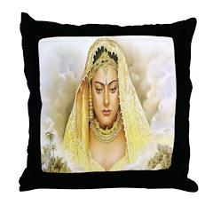Rajput Bride Throw Pillow