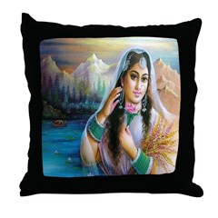 Kashmiri Bride Throw Pillow