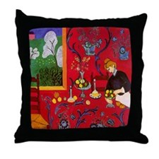 Harmony In Red Throw Pillow