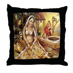 Village Beauty Throw Pillow