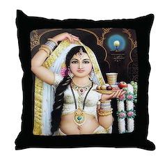 Pujarini (Bengali) Throw Pillow