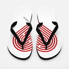 I Love Carolyn Flip Flops