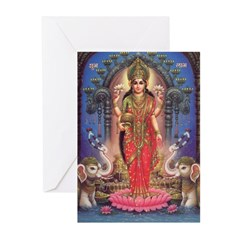 Goddess of Wealth Greeting Cards (Pk of 10)