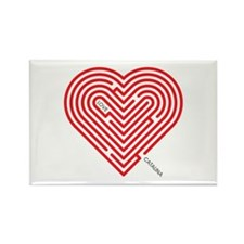 I Love Catalina Rectangle Magnet (100 pack)
