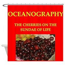 oceanography Shower Curtain