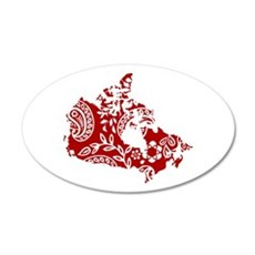 Paisley 35x21 Oval Wall Decal