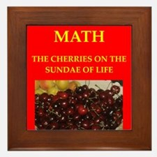 mathematics Framed Tile