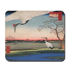Japanese Cranes Mousepad