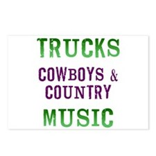 Trucks Cowboys Country Music Postcards (Package of